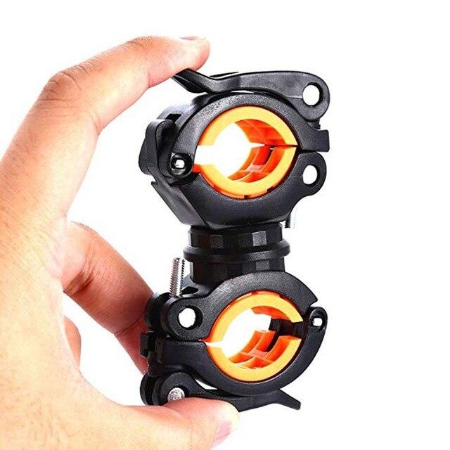 Clipe de braçadeira para ciclismo, clipe de lanterna para bicicleta de rotação 360 graus de montagem cabeça dianteira suporte clipe acessórios para bicicleta 4