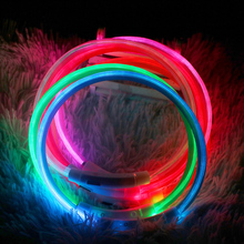 Dog Collars Glowing Luminous Led Usb Dog Collar Rechargeable LED  Pet Dog Collar Night Safety Flashing Glow