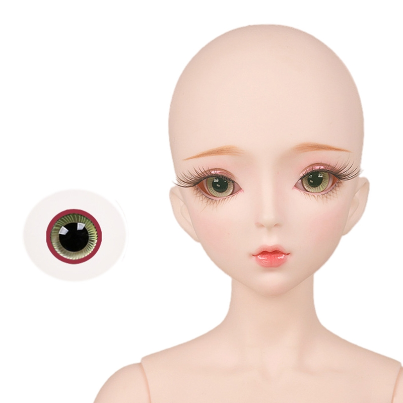For Bjd Eyeball 14mm Glass Material Green Blue Eyes Suitable For 1/3 1/4 Doll Accessories 29