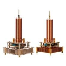 Hot TTKK Music Tesla Coil Arc Plasma Loudspeaker Wireless Transmission Experiment Desktop Toy Model Gold US Plug