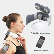 Tens-Machine Shoulder-Massager Portable Relief-Tool Pulse-Heating Electric-Neck Pain