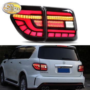 Car LED Tail Light Taillight For Nissan Patrol Y62 2008 - 2019 Rear Running Light + Brake Lamp + Reverse + Dynamic Turn Signal