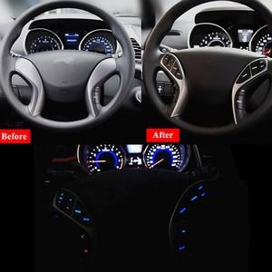 Image 5 - Кнопочный переключатель PUFEITE для Hyundai Elantra i30, кнопки на рулевое колесо, контроллер круиз для телефона, автомобильные аксессуары