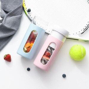 Портативный блендер без BPA, перезаряжаемый через USB, 300 мл, стеклянный блендер для смузи, соковыжималка, чашка, дорожный Миксер для фруктов