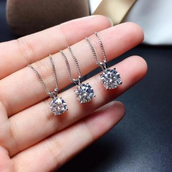 moissanite  Super popular styles, necklaces, ladies'party play. 925 pure silver