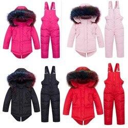 Orangemom Brand Children Down Jacket Set Baby Boys & Girls Hoodiesclothes Winterwith Big Fur Collar For Winter Wear