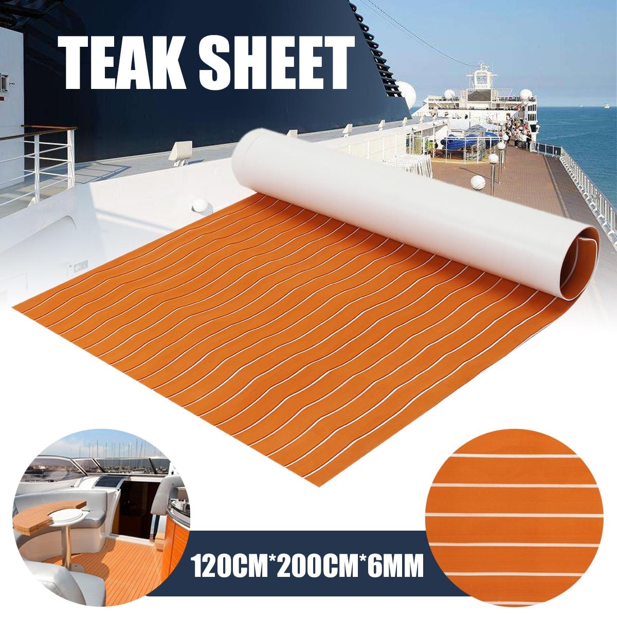 Eva Foam Faux Teak Decking Sheet Dark Brown Marine Boat Thick Diy Car Protective Floor Carpet Marine Boat Yacht Accessories