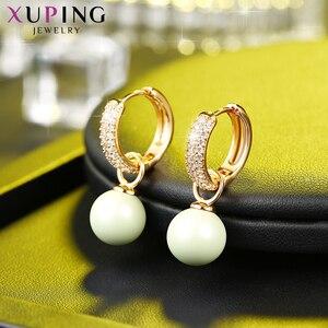 Image 3 - Xuping ювелирные изделия, романтические серьги с искусственным жемчугом, дикие стильные кристаллы от Swarovski, изысканные подарки на день Святого Валентина