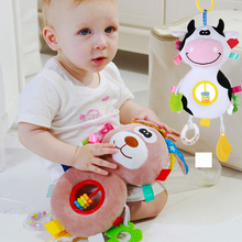 Baby Hanging toy bed Rattles Toys Stroller Hanging Animal Doll Crib Bed Bells Stuffed Toys for Newborns plush Stroller Mobile baby kids rattles toys cotton stroller pram crib hanging soft plush toys animal clip baby crib bed hanging bells toys for babies
