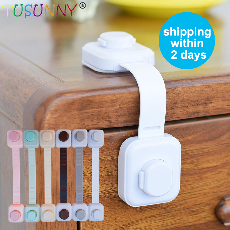 TUSUNNY 1/2/3pcs/Lot Child Protection Baby Drawer Safety Lock Locks From Children On Cabinets Cupboard Cabinet Door Drawer