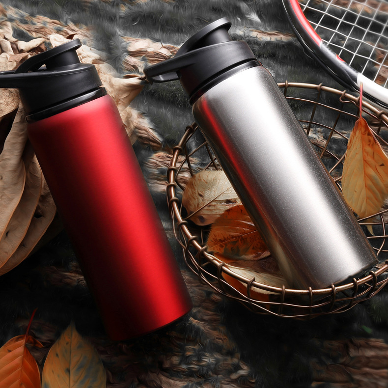 Bicycle Water Bottle Not Insulated Outdoor Sport Jug Leak-proof Cup Aluminum Alloy Bike Bottle 700ML 4 Colors Bike Accessories