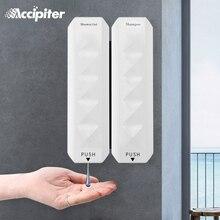 Tırnak ücretsiz duvara monte banyo 350ML sabunluk monte şampuan sıvı sabun şişesi banyo aksesuarları