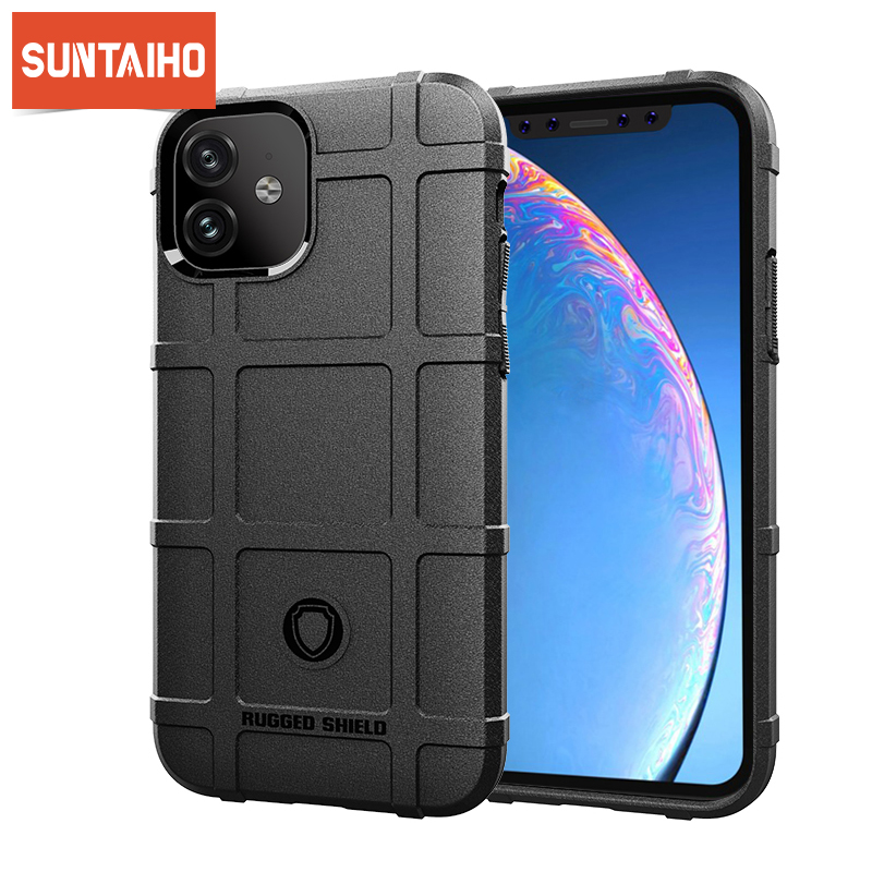 Rugged Shiled Heavy Duty <font><b>Case</b></font> For <font><b>iPhone</b></font> XR 7 8 <font><b>X</b></font> 11 Pro Matte Texture Silicone Non-slip Cover For <font><b>iPhone</b></font> 11 Pro Max XS 66s Plus image