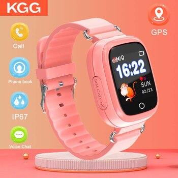 Q90S Kids Smart Wtach Waterproof GPS Phone Positioning Fashions Watch 1.22 Inch Color Touch Screen WIFI SOS Smart Watch PK Q50