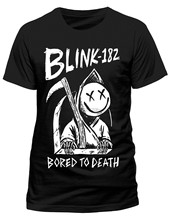 BLINK 182 Bored to Death T-SHIRT - NUOVO E ORIGINALE NUOVO marchio