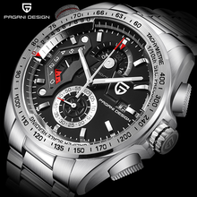 PAGANI Design Multifunctional Mens Watch Luxury Stainless Steel Waterproof Chronograph Business Sports Quartz Men For Wristwatch(China)