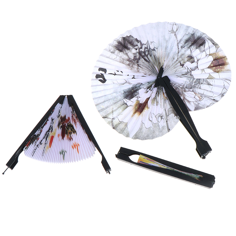 6 Oriental Floral Fancy Party Wedding Chinese Paper Folding Hand Fan Favors Gift
