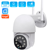3MP HD Tuya Smart Home IP Camera WiFi Camera 4x Zoom AI Human Auto-Tracking PTZ Camera IR/Color visione notturna videosorveglianza