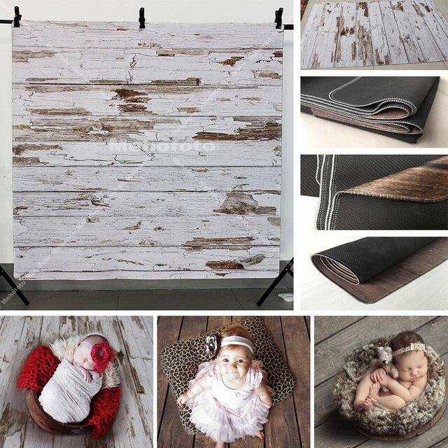Gumowa podłoga zdjęcie tło Vintage drewno noworodka portret dziecka fotografia tło antypoślizgowa mata gumowa sesja zdjęciowa