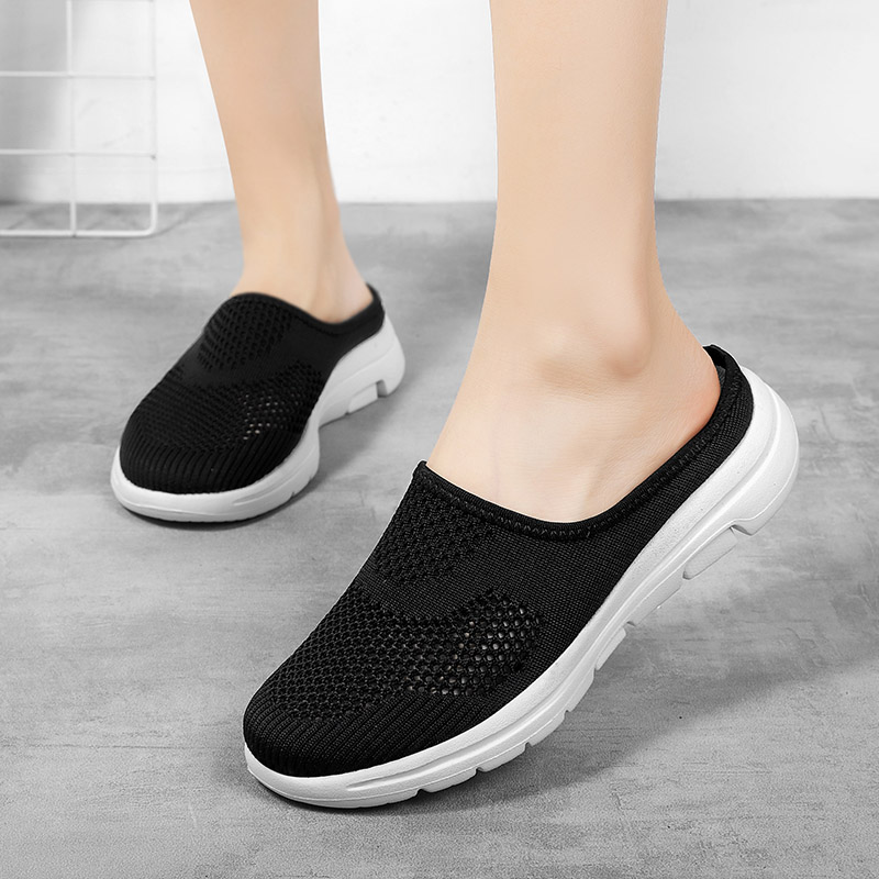 STS 2020 Women Shoes Spring Casual Breathable Flying Woven Women Shoes Light Flat Shoes Women Casual Sneakers Flats Ladies Shoes