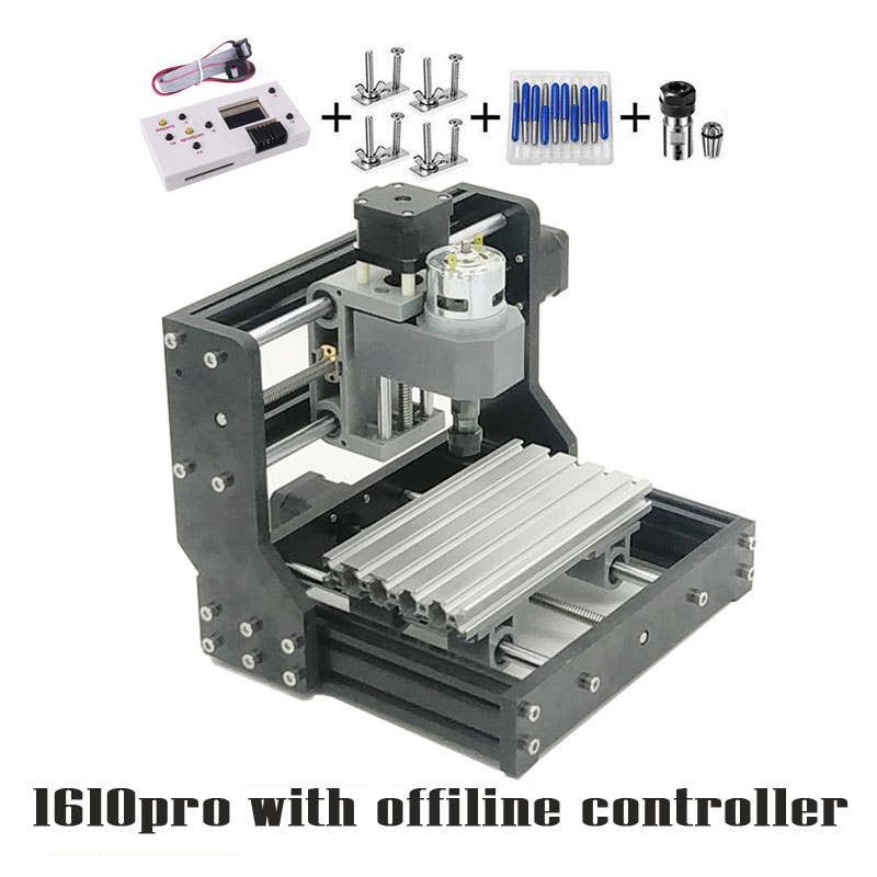 CNC 1610 PRO GRBL 1.1 Mini CNC Machine with Offline Control Board,3 Axis Pcb Milling Machine ,Wood Router Working Area 16*10cm