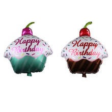 Happy Birthday Balloon Cake Foil Balloons Baby Shower Birthday Party Decoration Inflatable Air Balls Kids Toys Party Supplies animal head foil balloons tiger inflatable air balloon happy birthday party decoration helium balloon baby shower party supplies