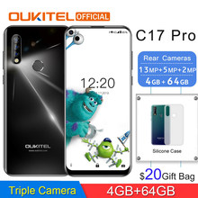 "OUKITEL C17 Pro MTK6763 Octa Core Smartphone 6.35 ""19.5: 9 Android 9.0 4G RAM 64G ROM Achter Triple Camera Dual 4G LTE Mobiele Telefoon(China)"