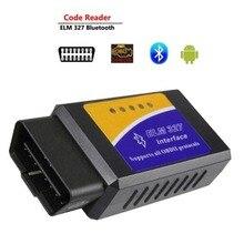 Novo mini vgate elm 327 v1.5 v2.1 versão bluetooth digitalização obd2/obdii elm327 v 1.5 scanner de código bt 16pin adaptador android