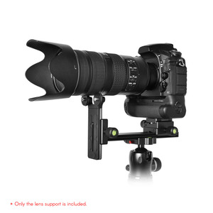 Image 2 - Andoer L200 Telephoto Lens Support Long Lens Holder Bracket Compatible for Arca Swiss Sunwayfoto RRS Benro Kirk Markins Mount