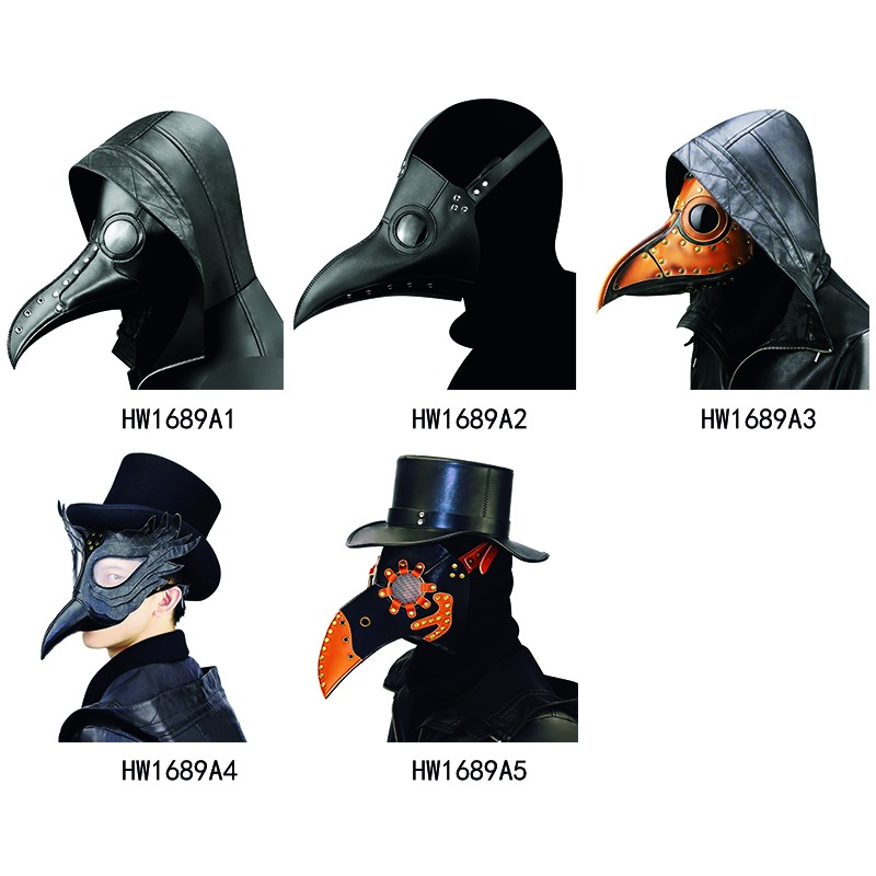 Cosplay Steampunk Plague Doctor Mask Bird Beak Halloween Props Retr Gothic Masks