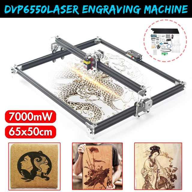 DVP6550 7000MW/6000MW/3000MWสีฟ้าCNCเลเซอร์2แกนDC 12V DIYแกะสลักเดสก์ท็อปไม้Router//เครื่องพิมพ์ + เลเซอร์