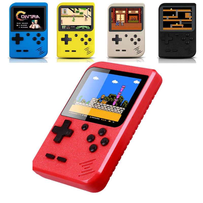 2019 yeni elde kullanılır oyun konsolu dahili 400 klasik oyunlar Mini 8 Bit cep taşınabilir oyuncu Retro video oyunu konsolu