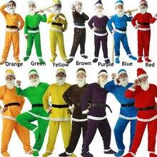 休日サンタ7ドワーフ雪衣装妖精エルフ大人子供子供カーニバルステージハロウィングループ家族の衣装男性のための