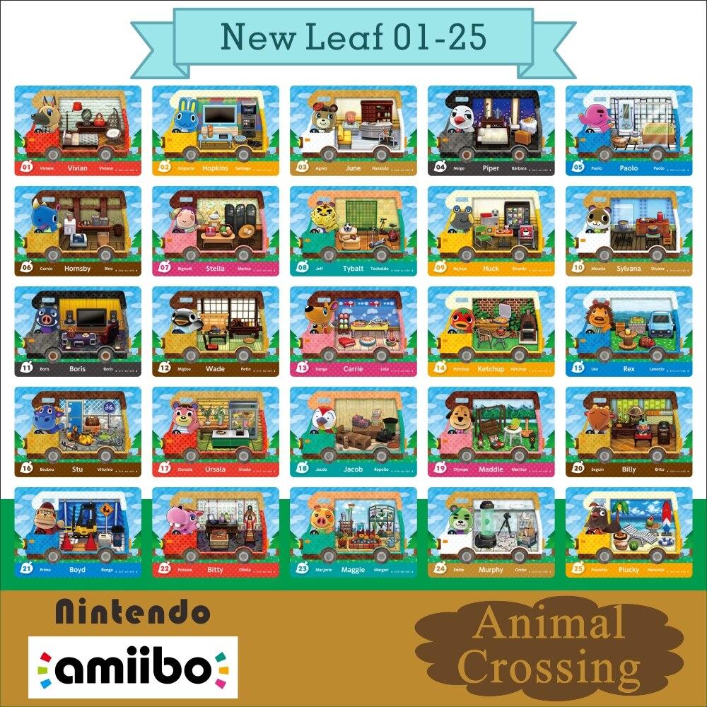 01-25 Amiibo Amibo Cards Animal Crossing New Horizons Llama Card Amibo Amiibo Card Work Nfc for Ns Games Netendo Carte Ntag215 1