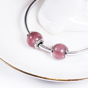 Image 4 - Strawberry crystal 925 Sterling Silver beads charms fit Bracelets & Bangles TRBS012