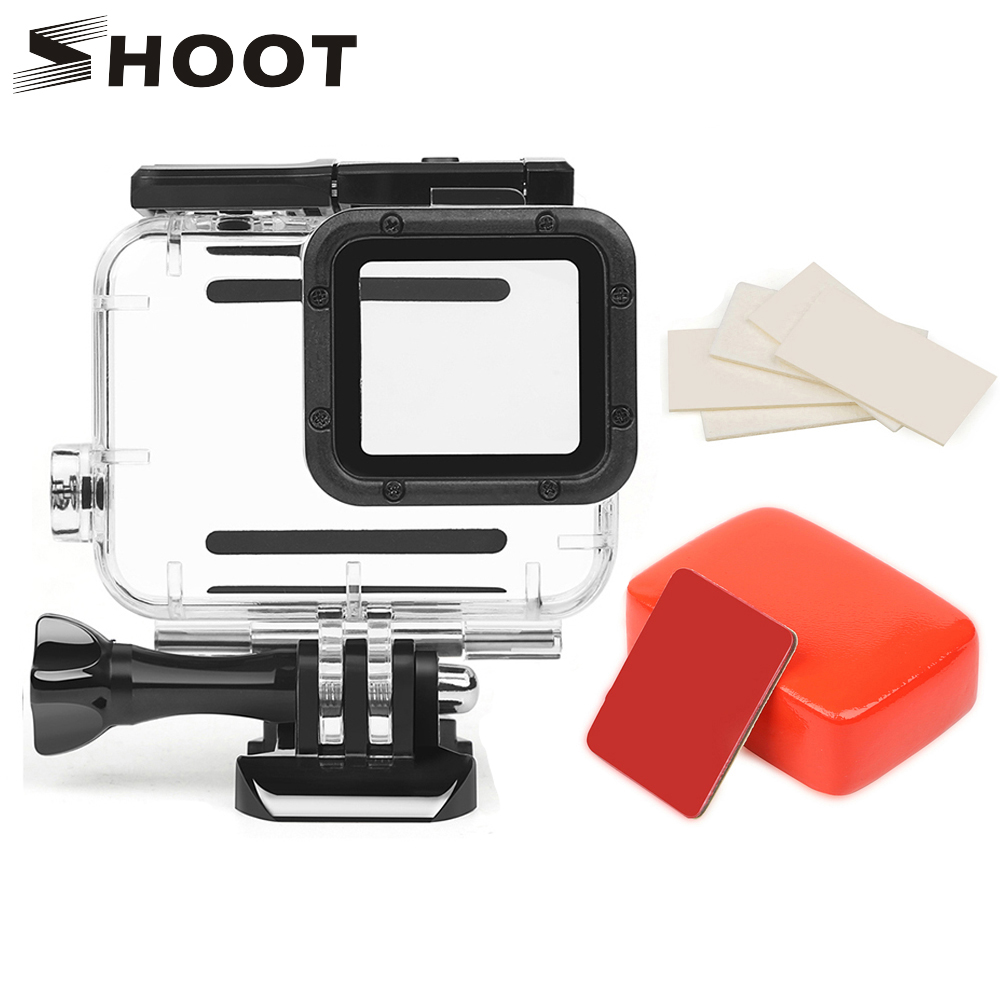 SHOOT 45M Waterproof Case Set For GoPro Hero 7 6 5 Black Sports Camera Surfing Diving Accessory For Go Pro Hero 7 6 5 Action Cam