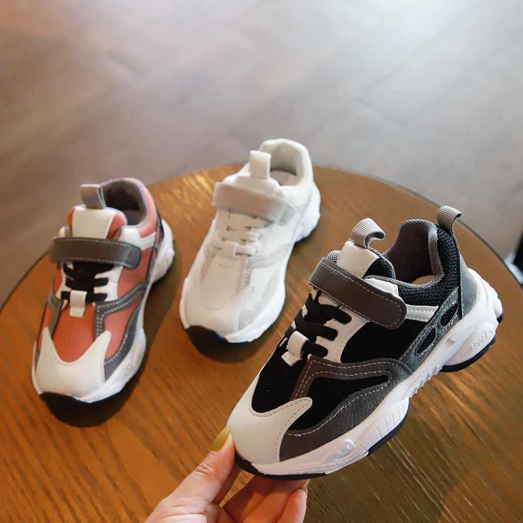 Çocuk Bebek Çocuk Bebek Kız Erkek Patchwork Run Spor gündelik ayakkabı Ayakkabı çocuk takım elbise Yüksek Kalite