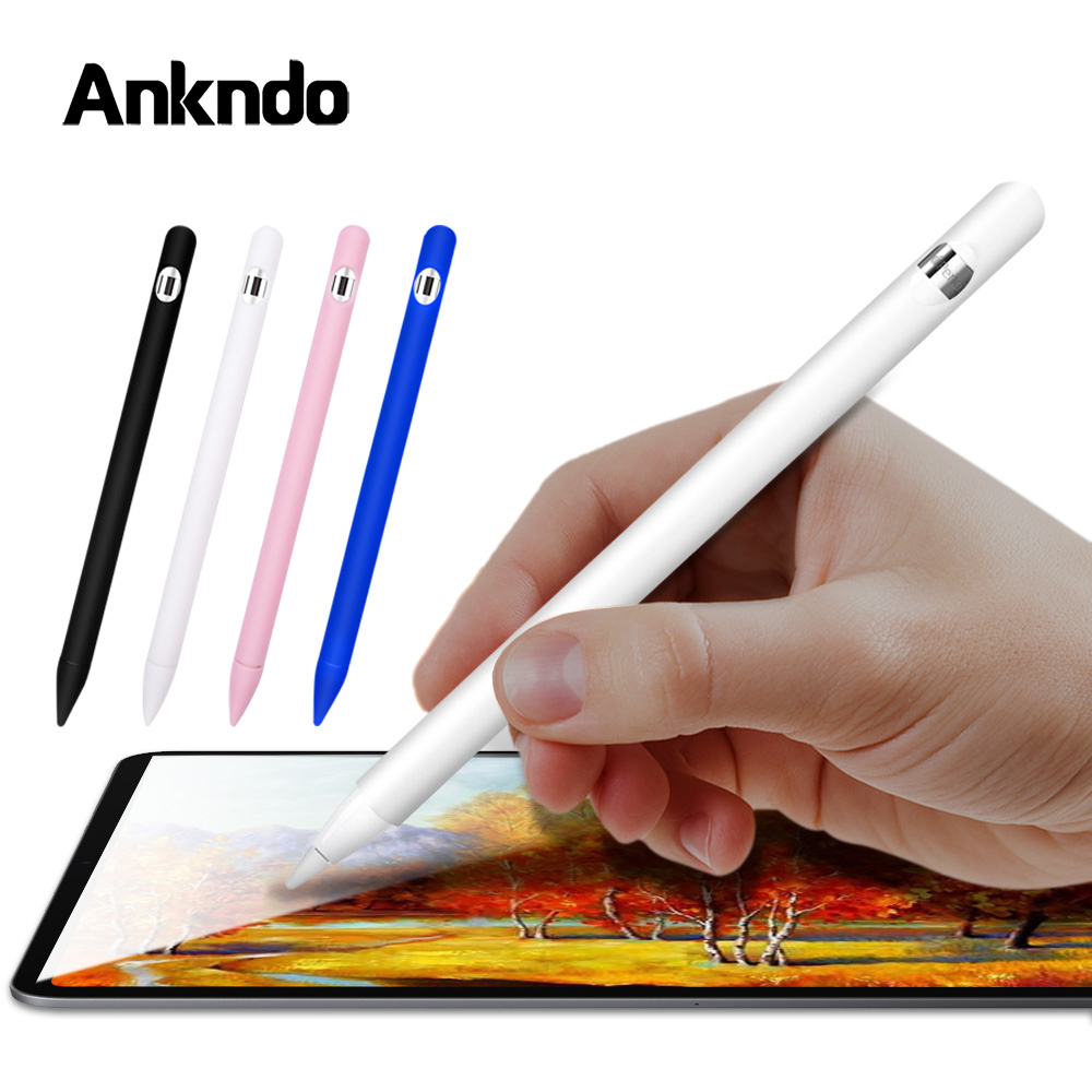 Soft Silicone For Apple pencil case For iPad Tablet Touch Pen Protective Sleeve For iPad Screen Stylus Skin Cover Accessories