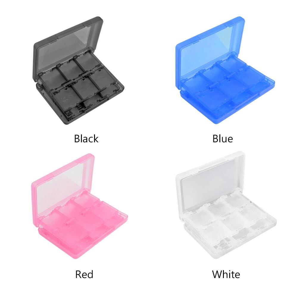 28 слотов для карт карточная игра ящик для хранения Чехол Организатор Цвет: черный, синий красный, белый PP Пластик Для Nintendo 3DS/3DS LL/3DS XL/DSi LL/DSi XL
