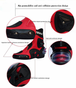 Image 5 - אופנוע מירוץ מגפי עור עמיד למים רכיבה נעלי מיקרופייבר אופנוע מוטוקרוס מחוץ לכביש מגן הילוכים Moto מגפיים
