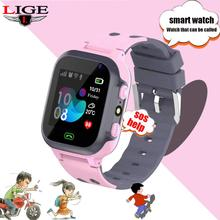 LIGE 2019 New Smart Watch LBS Kid SmartWatches Anti Lost Baby for Kids SOS Call Location Finder Locator Tracker + Box