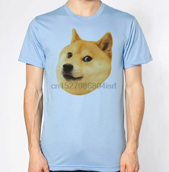 Such Wow Doge Chest Print Tee Skater Badge Meme Illuminati T Shirt