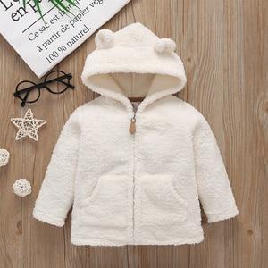 Image 3 - Erkek bebek kış giysileri kapüşonlu ceket polar + romper + pantolon yenidoğan kız giyim bebekler kıyafet uzun kollu bebek seti fermuarlı 2020
