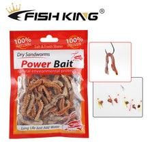 Ftk 1 pacote de água doce de água doce 6g 10glu peixe bacalhau seco inseto sandworm isca pesca mar sem-fim isca