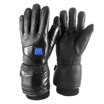 Akumulator skórzany do ogrzewania rękawiczek motocykl elektryczny ciepły do ogrzewania rękawiczek 3 regulowane rękawice rozgrzewające palce zimowe tanie i dobre opinie Masontex oddychająca Elastan i nylonu Mężczyźni Cycling golves Electric heated gloves Leather+heat-preserving cotton