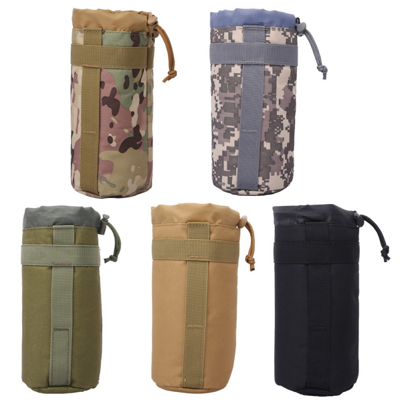 Military Sport Bags Cover 2L Portable Water Bottle Pouch Camping Kettle Bags For Backpack Vest Belt Travel Cycling Hiking