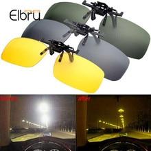 Elbru автомобиль водительские очки анти-UVA поляризованные солнцезащитные очки вождения ночного видения линзы клип на солнцезащитные очки интерьерные аксессуары