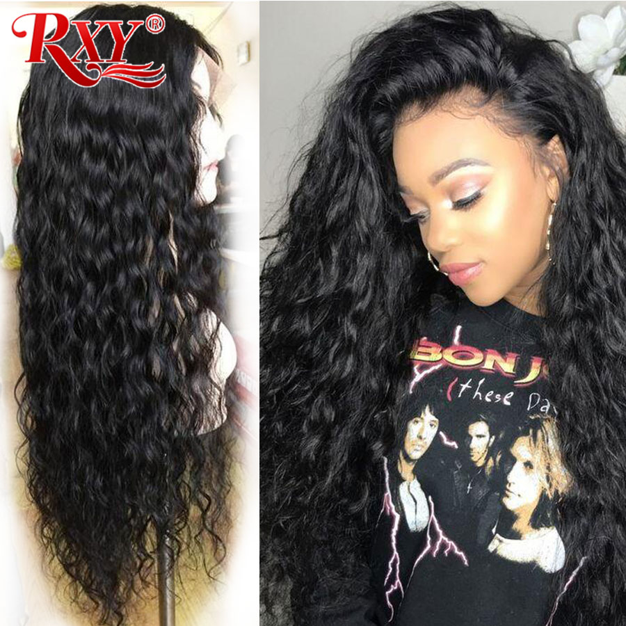 RXY Lace Front Human Hair Wigs For Women 360 Lace Frontal Wig Pre Plucked 13x6 Lace Front Wig Brazilian Remy Lace Water Wave Wig