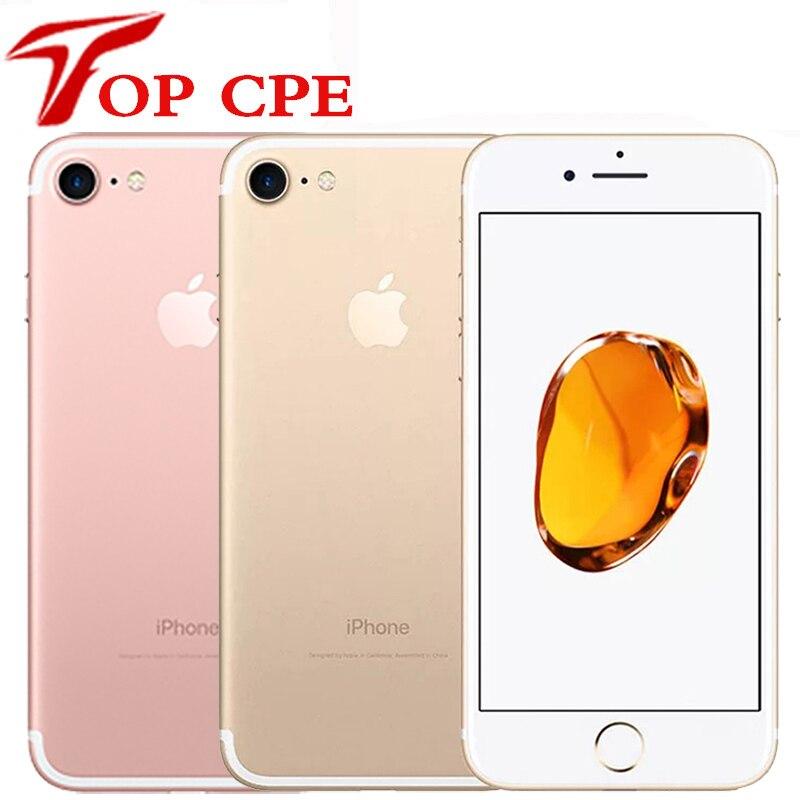 Разблокированный Оригинальный iPhone 7/iphone 7 Plus IOS мобильного телефона 32GB/128GB/256GB ROM 12.0MP камера Quad-Core отпечатков пальцев мобильный телефон