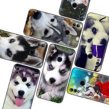 Animal Husky Puppy Dog Black Case for Huawei Y9 Y5 Y6 Y7 2019 Honor 10 9 Lite 9X 8X 8S 8A 7S 7A 10i 20i V20 Phone Coque Capa(China)